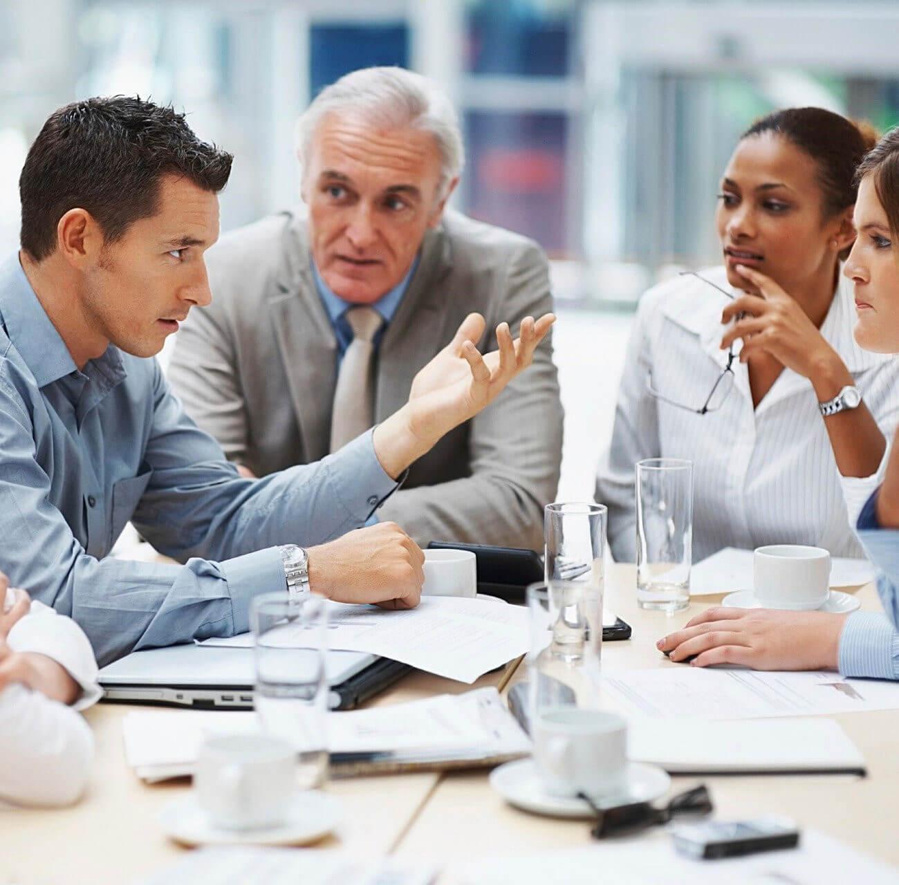 vergadering met diverse mensen